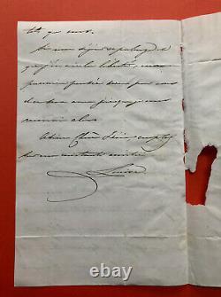 Louise d'ARTOIS, grande-duchesse de Parme Lettre autographe signée