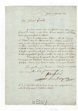 Lucien Bonaparte / Lettre Signée (1803) / Italie / Madrid / Napoléon