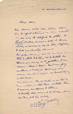 Lucien Descaves lettre autographe signée sauveteurs allemands courrières Meunier