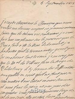 MADAME DE MAINTENON lettre autographe signée à propos de l'armée de Louis XIV