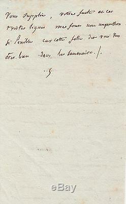 MADAME DE STAEL Lettre autographe signée