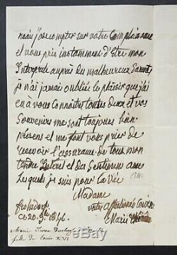 MADAME ROYALE, fille Louis XVI et Marie-Antoinette lettre autographe signée