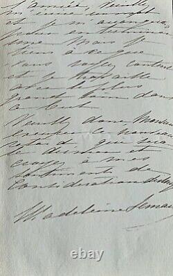MADELEINE LEMAIRE, Délai pour un tableau, Lettre manuscrite autographe signée