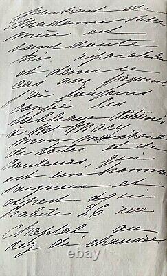MADELEINE LEMAIRE, Restauration d'un tableau lettre manuscrite autographe signée