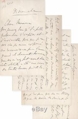 MARCEL PROUST Belle lettre autographe signée à Robert de Montesquiou de 4 PAGES