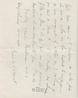 MARCEL PROUST Lettre autographe signée suite à l'obtention du prix Goncourt