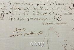 MARIE ANTOINETTE Reine de France Lettre / Document signé 1786