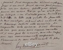 MAUPASSANT Lettre autographe signée sur la critique