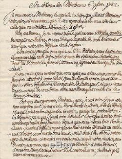 MIRABEAU Lettre autographe signée à sa femme