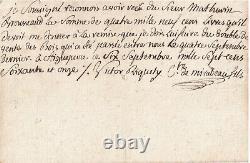 MIRABEAU fils et père LETTRE AUTOGRAPHE SIGNEE Révolution Française