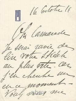 MISTINGUETT Ensemble de deux lettres autographes signées