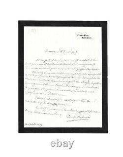 MORT DU PRINCE IMPERIAL Duc de Bassano / Lettre autographe signée / Eugénie