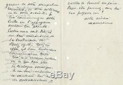 M. Maeterlinck 2 lettres autographes signées Alfred Sutro Wandrille Bazalgette