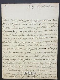 Madame de MAINTENON belle lettre signée au sujet de Maison Royale de Saint-Louis