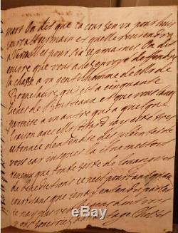 Madame de Maintenon Scarron lettre autographe signée JEUNESSE 1671