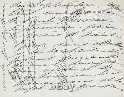 Madeleine LEMAIRE peintre carte autographe signée illustration Paul Hervieu