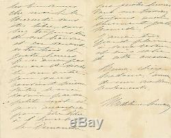 Madeleine LEMAIRE peintre lettre autographe signée amies les bienvenues