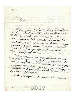 Mademoiselle GEORGE / Lettre autographe signée / Louis-Philippe 1er / Théatre