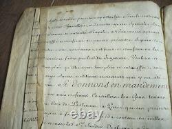 Manuscrit Lettre Patente Signee Par Louis XV 1770 Sur Velin