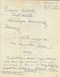 Marcel DUCHAMP Lettre autographe signée période new yorkaise 1947