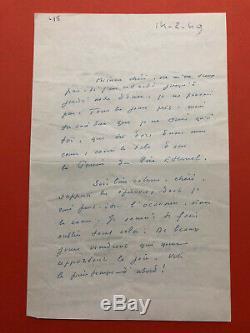 Marcel JOUHANDEAU Lettre autographe signée