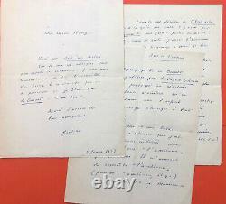 Marcel JOUHANDEAU Manuscrit autographe et lettre autographe signée