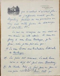 Marcel PAGNOL Importante lettre autographe signée à Deval 4 pages ALS