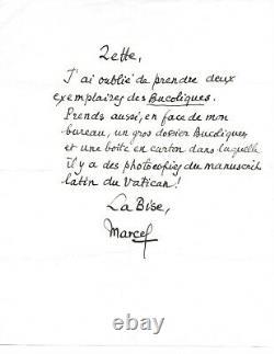 Marcel PAGNOL Lettre autographe signée Les Bucoliques