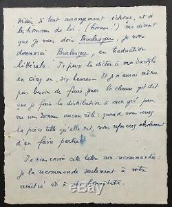 Marcel PAGNOL Lettre autographe signée + enveloppe ALS 4 pages 1930