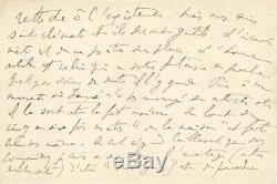 Marcel PROUST / Lettre autographe signée / 7 pages. Les vers idiots de Cabourg