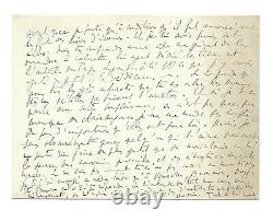 Marcel PROUST / Lettre autographe signée / Du côté de chez Swann / Jalousie