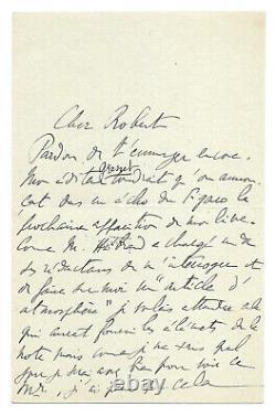 Marcel PROUST / Lettre autographe signée / Le plan de la Recherche