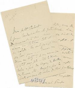 Marcel PROUST / Lettre autographe signée / Ruskin / Baudelaire / Ritz