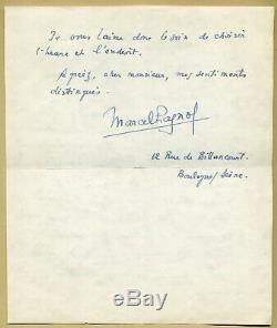 Marcel Pagnol (1895-1974) Écrivain et cinéaste Lettre autographe signée 1930