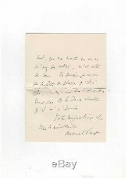 Marcel Proust /lettre Autographe Signée À Germaine Lavignac / Reynaldo Hahn