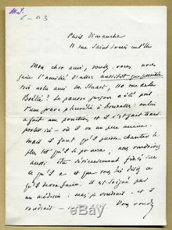 Marcel Schwob (1867-1905) Importante lettre autographe signée Stuart Merrill