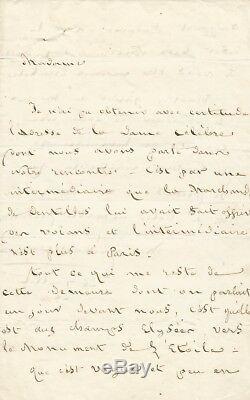 Marceline DESBORDES-VALMORE / Lettre autographe signée. 1850