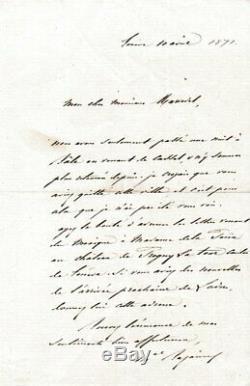 Maréchal BAZAINE, 1871, Lettre Autographe Signée pendant son EXIL EN SUISSE