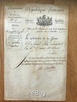 Maréchal Berthier / Lettre Signée (1801) / Au Général Pille / Napoléon