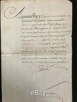 Maréchal De Villars / Lettre Signée (1714) / Régence / Louis XV