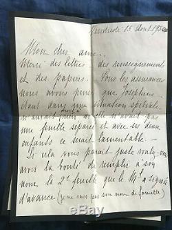Marechal Petain Lettre Autographe Signee 1930 Epouse Militaria Rarissime