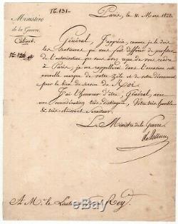 Maréchal Victor / Lettre Signée (1822) / Au Service De Louis XVIII