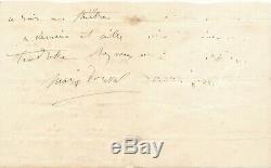 Marie DORVAL lettre autographe signée elle s'inquiète pour une amie