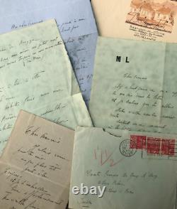 Marie LAURENCIN Ensemble de 5 lettres autographes signées à François de Gouy