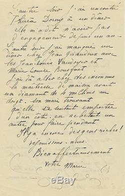 Marie LAURENCIN Lettre autographe signée votre Marie à une amie
