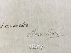 Marie-Thérèse, Dauphine de France, Madame Royale Lettre signée Signed letter