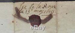 Marie de Medicis Reine de France Lettre signée avec ligne autographe 1619