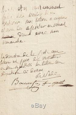 Marquis de SADE lettre autographe signée maitresse