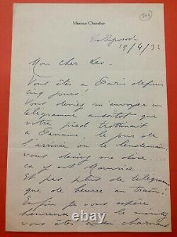 Maurice CHEVALIER Lettre autographe signée