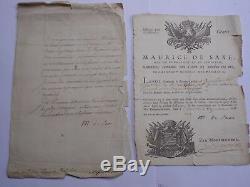 Maurice De Saxe Lettre & Passeport Signes A M. De Rohan Bruxelles 1748